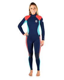 Womens Dawn Patrol 4/3 BackZip