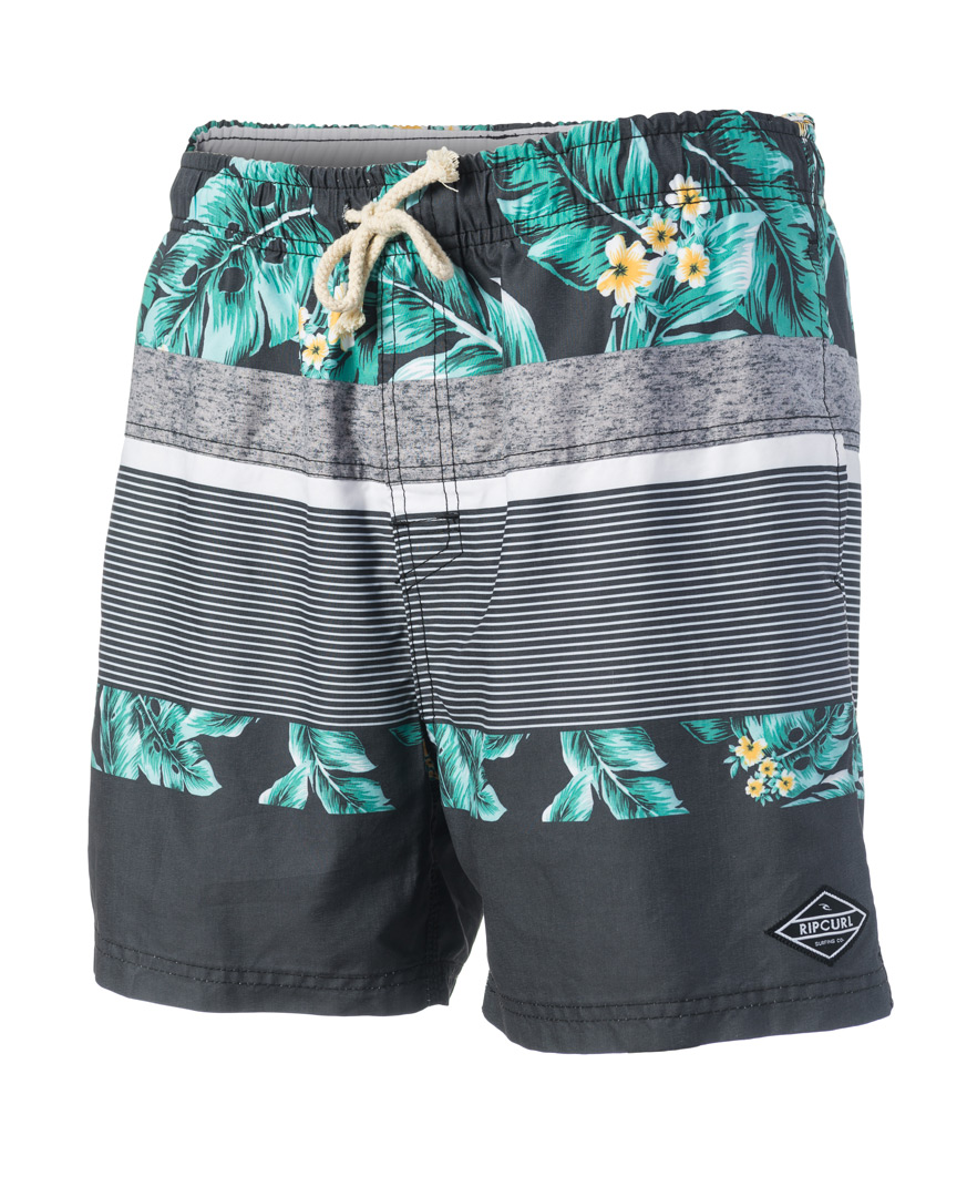 "Volley Stripe Flower 16"""" Boardshort"