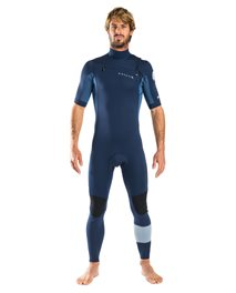 Aggro 2/2 Chest Zip Short Sleeve - Wetsuit