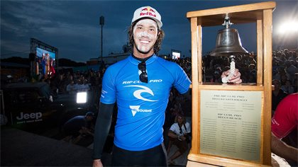 Jordy Smith Wins The 2017 Rip Curl Pro Bells Beach