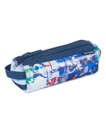 Pencil Case 2 compartments Ocean Glitch