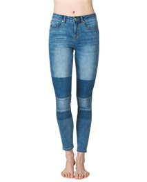 Pins High-Patched Indigo Denim