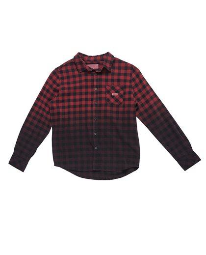 Dip Dye Check Flanel Shirt