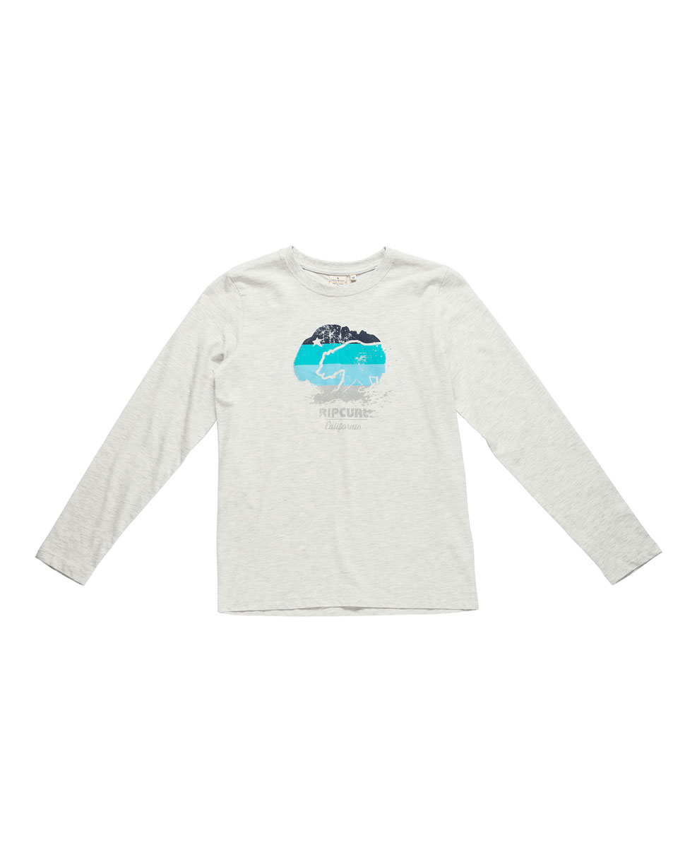 Cali Bear Stripes Ls Tee