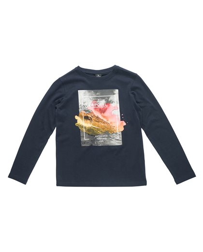 Satured Action Print Ls Tee