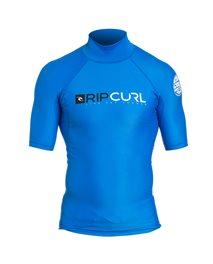 Tee-shirt de surf anti-UV Shock Hi Collar manches courtes