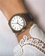 Montre Brink Old Gold Leather