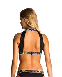 Surf Geo Hi Neck Crop - Swimwear