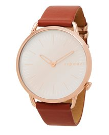 Super Slim Rose Gold Lthr Watch