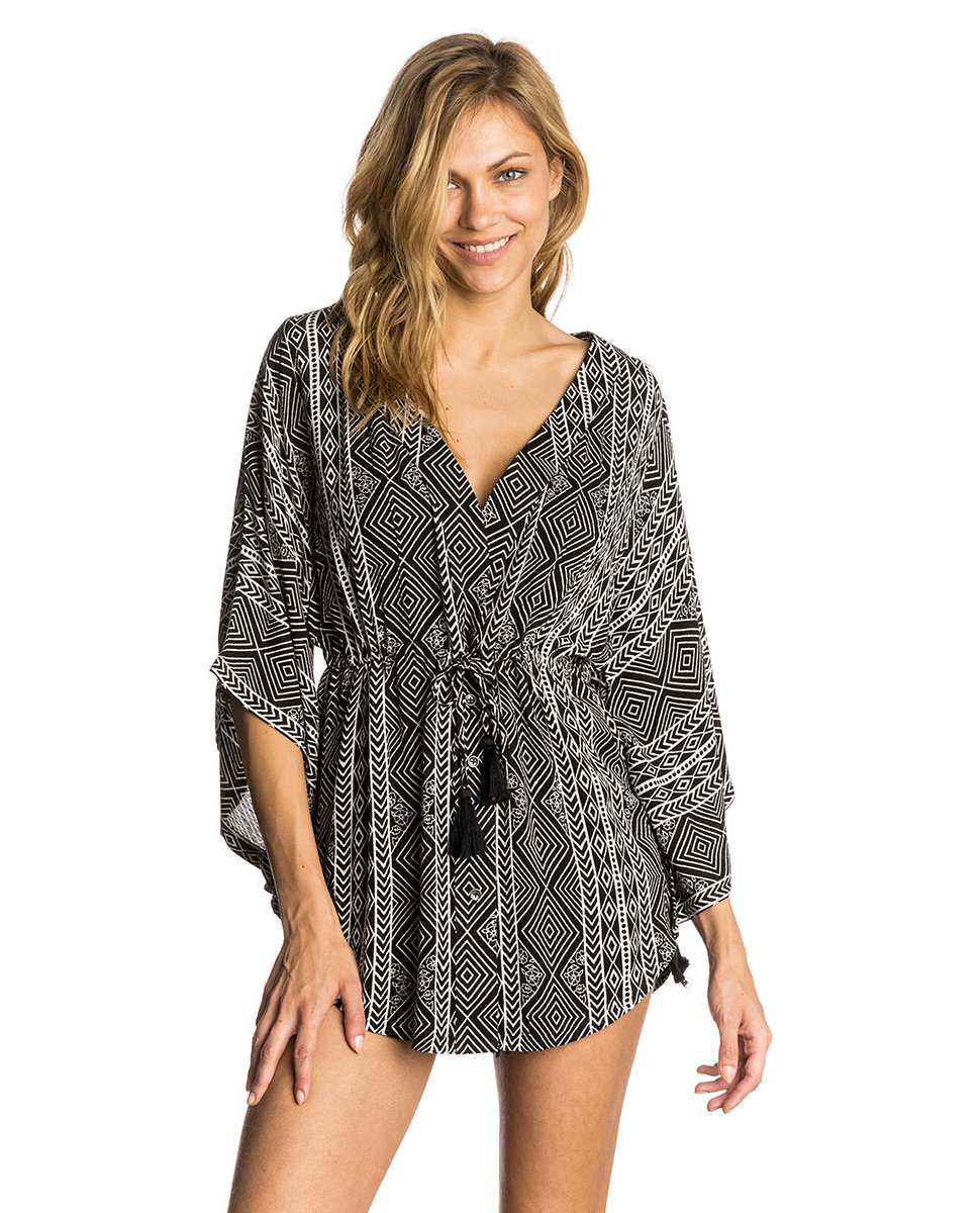 Mujer Playa Kimono Camisas Black Para Curl Europe Rip Sands De AIxYq
