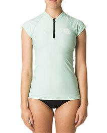 Belle Cap Front Zip UV Tee