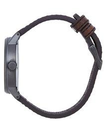 Drake Leather Gunmetal Watch Watch