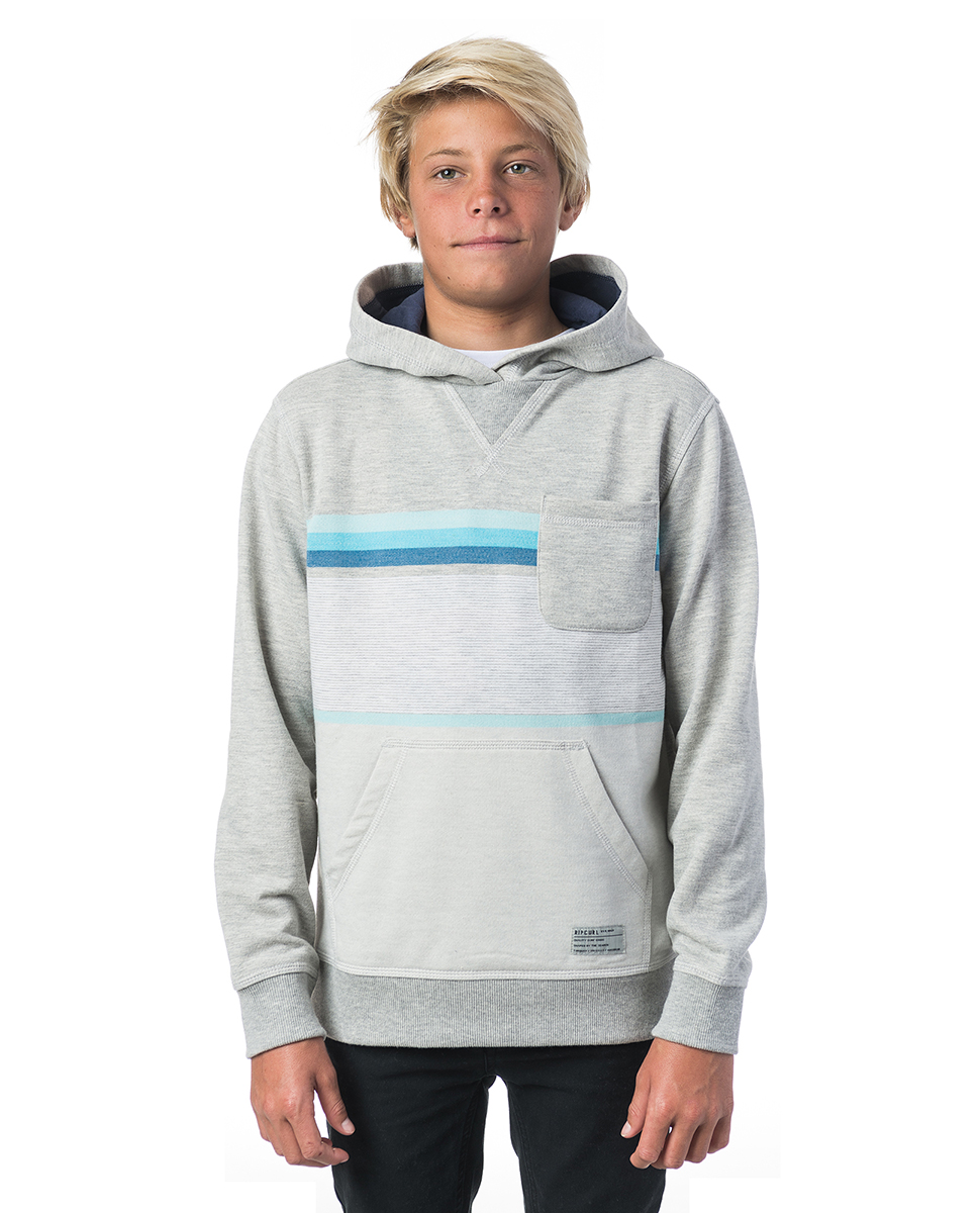 Yarn Dyed Stripe Hooded Fleece