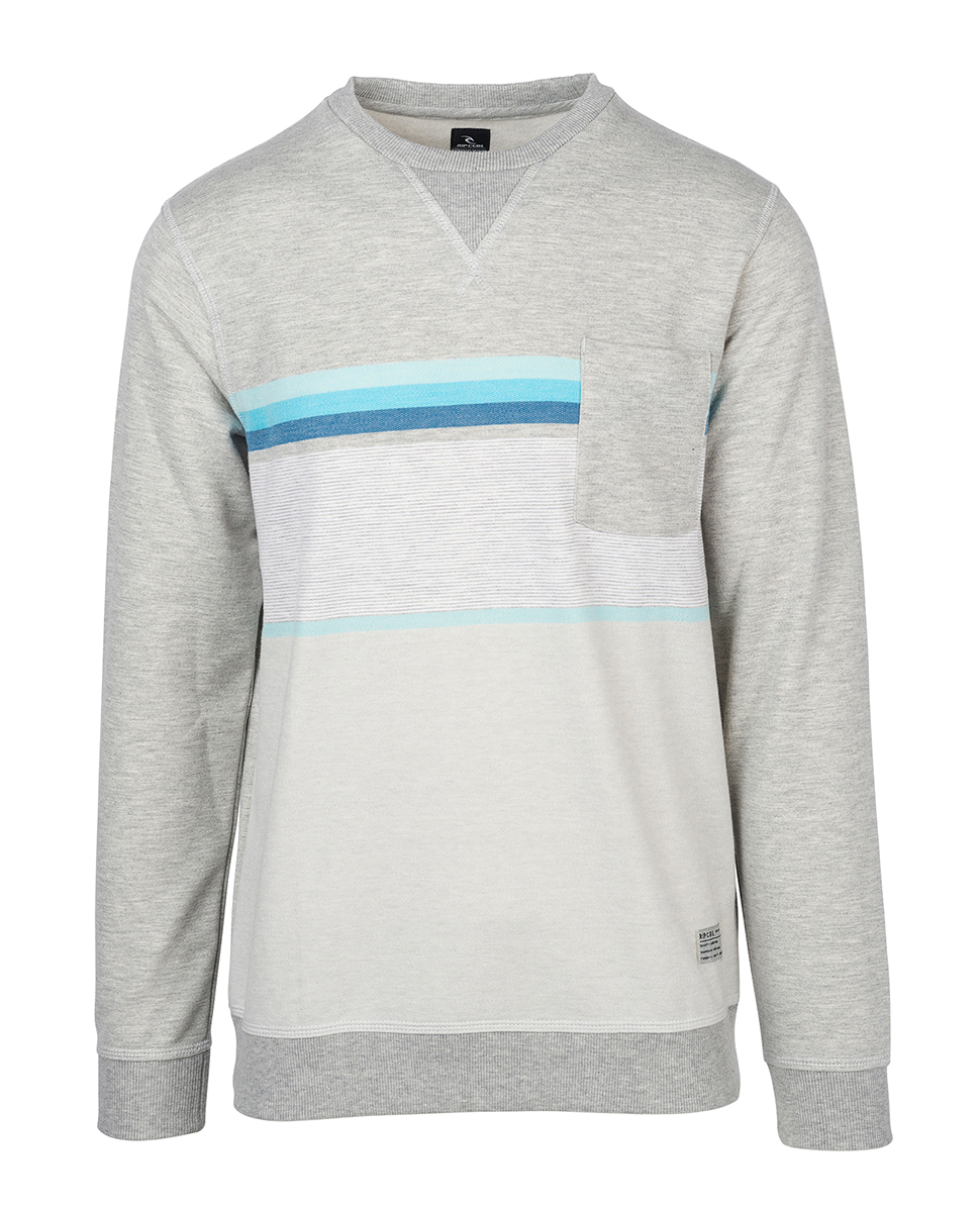 Yarn Dyed Stripe Crew Fleece