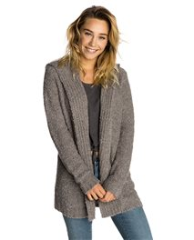 Loop Hooded Cardigan