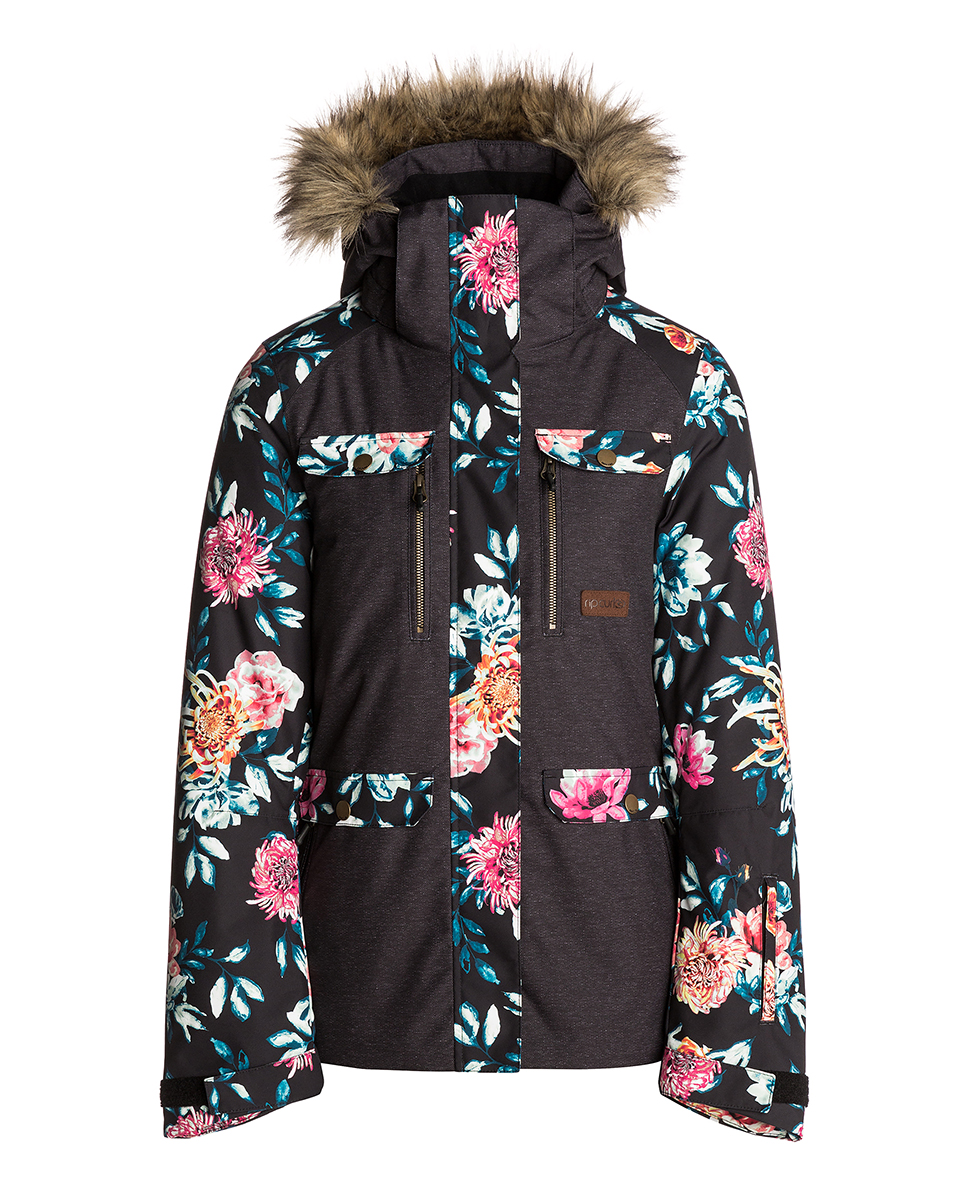 Chic Printed Snow Jacket