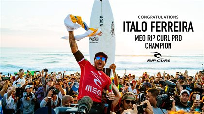 116d579047b1 Italo Ferreira Wins the 2018 MEO Rip Curl Pro Portugal, World Title Race  Heads to