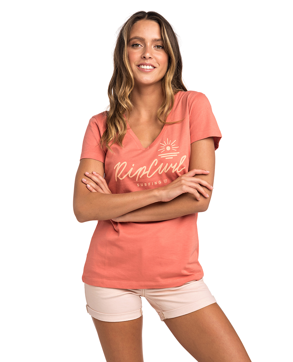 af17559ae6 Rocky - V Neck Tee | Womens Beach T-Shirts | Tees & Teeshirts | Rip Curl  Europe Online Store