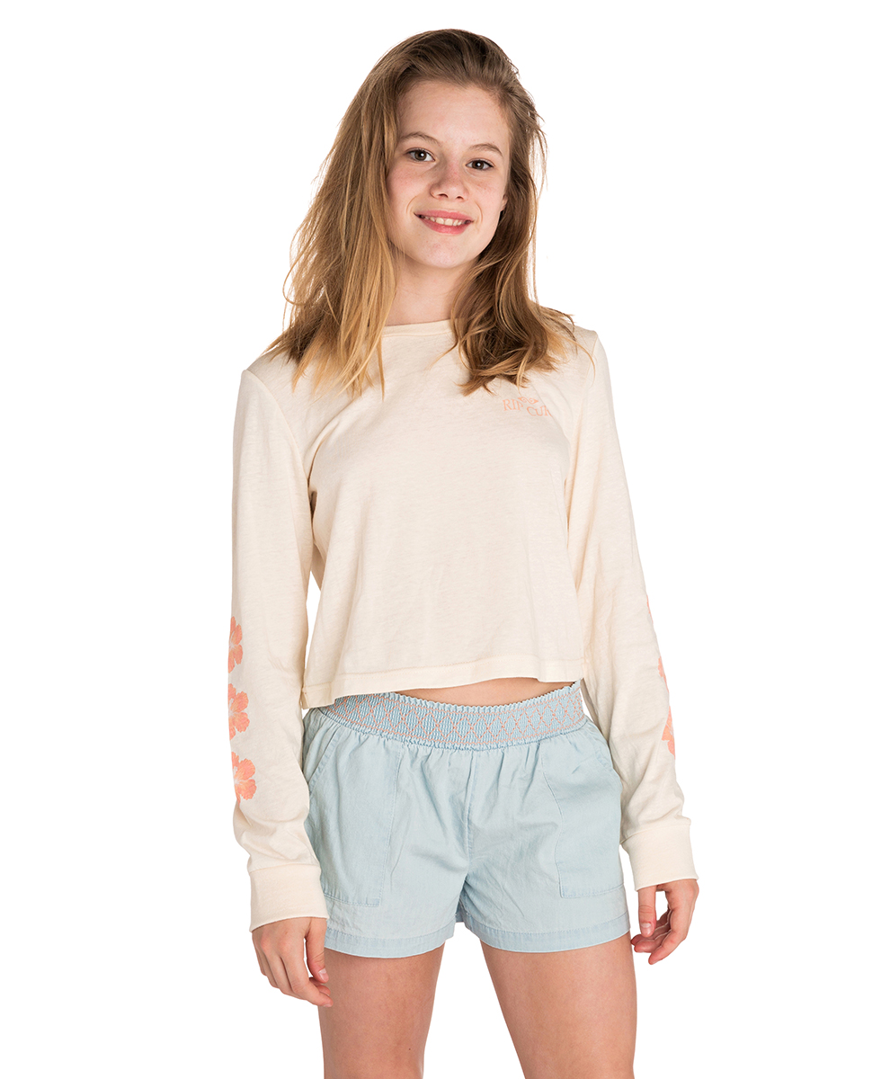 Teen Revial Long Sleeve - Crop Tee