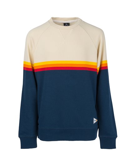 Rainbow Stripe Crewneck - Fleece