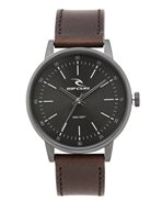 Drake Leather Gunmetal Watch