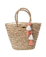 Shorelines Straw Beach Bag
