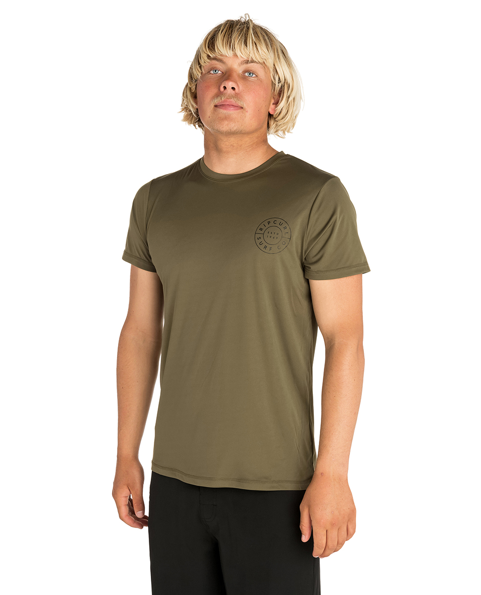 Rip Curl Mens Compass Short Sleeve UV Tee