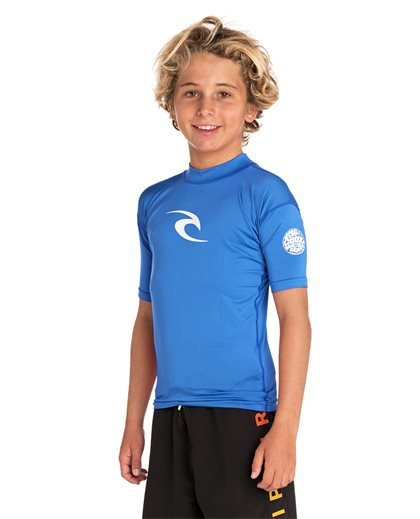 Boys Corpo Hi Neck Short Sleeve - UV Tee