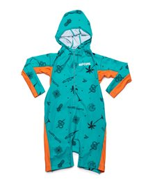 Gilet UV manches longues Kids Hooded