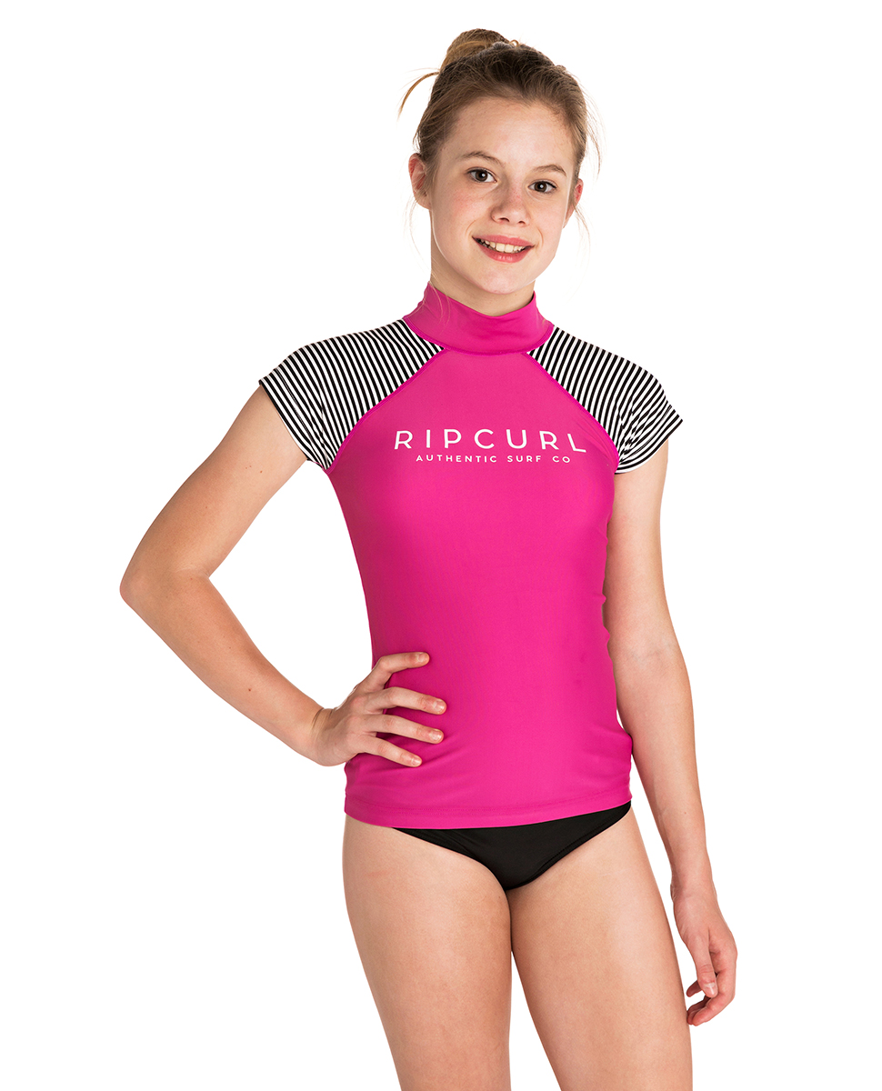 c6a4ce3cae Girls Breaker Cap Sleeve - UV Tee | Rash Vests | Rip Curl Europe Online  Store