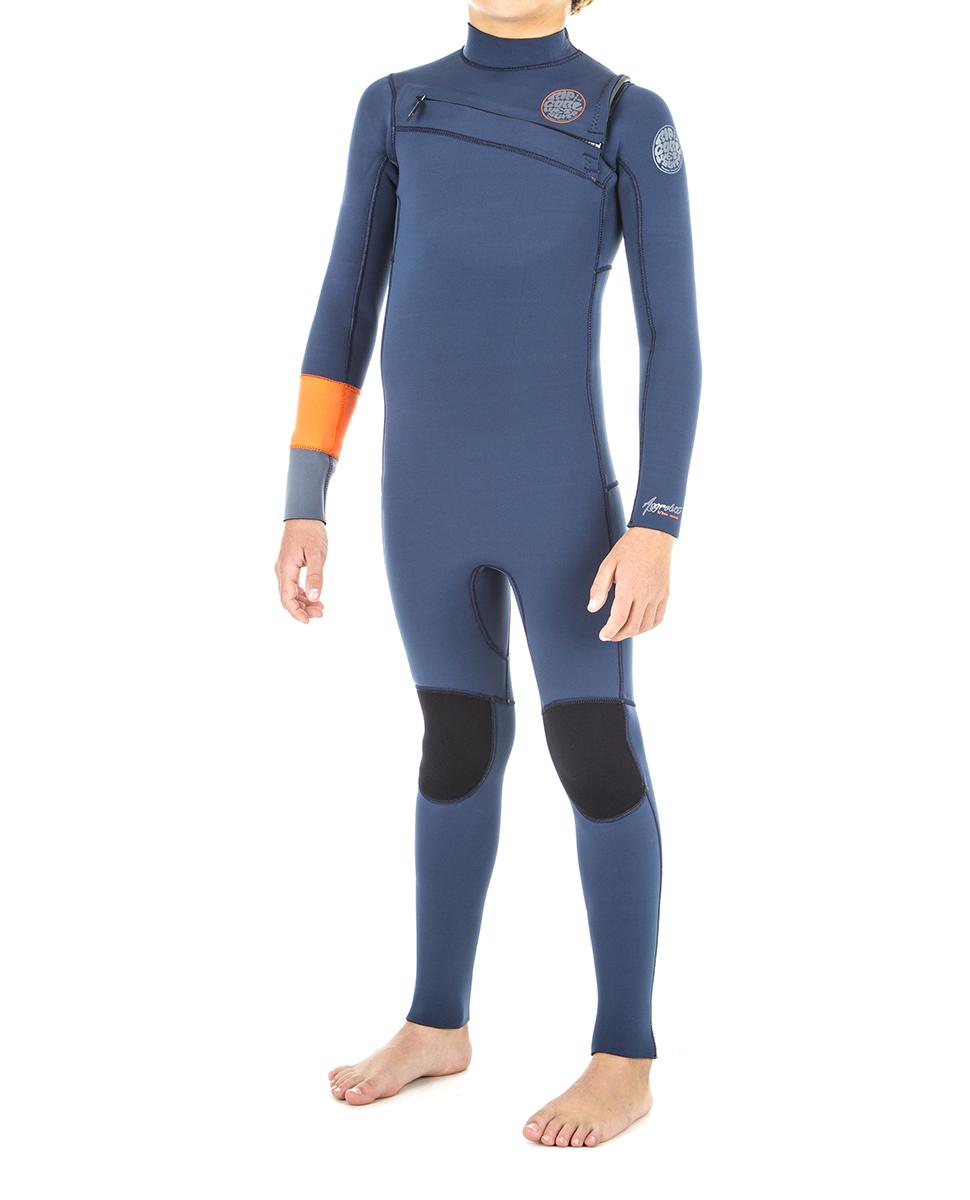 Junior Aggrolite 3/2 Chest Zip - Wetsuit