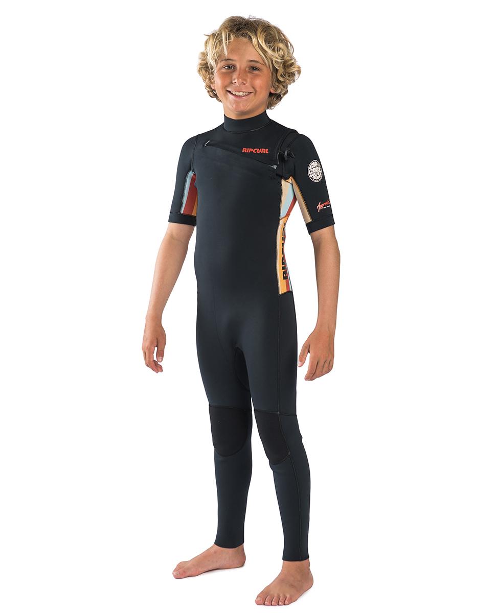 Junior Aggrolite Short Sleeve 2/2 Chest Zip - Wetsuit