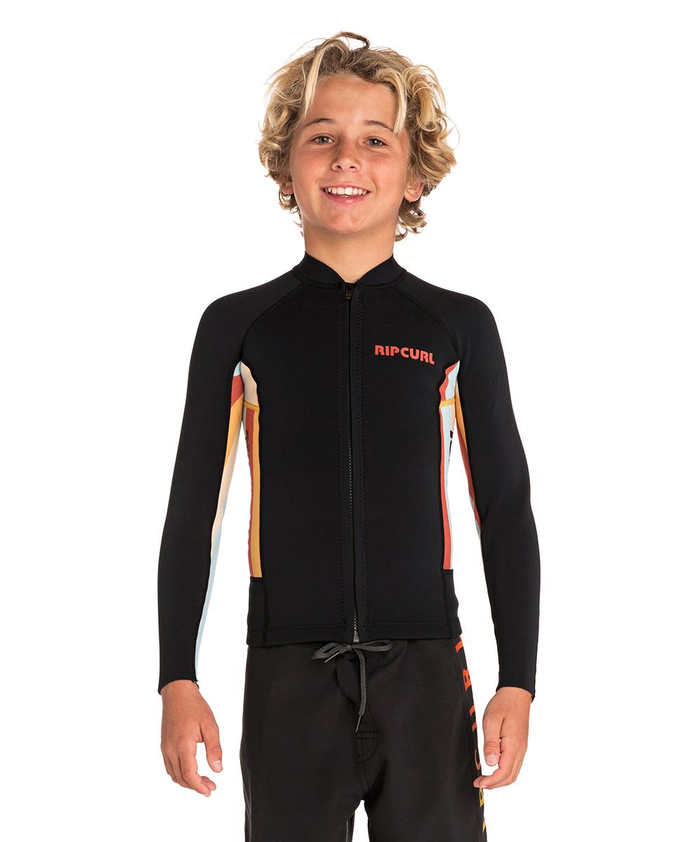 Junior Aggrolite Long Sleeve Front Zip - Surf Jacket