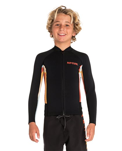 Junior Aggrolite Long Sleeve Front Zip - Surf Jacket