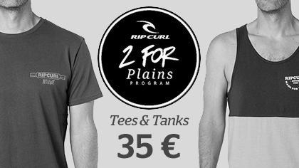 2 men's tees for 35 €
