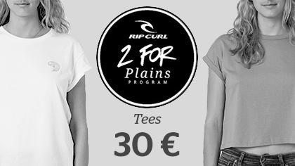 2 women's tees for 30 €