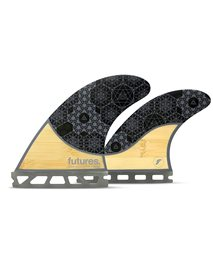 Futures Rasta Honeycomb Quad Set - Fins