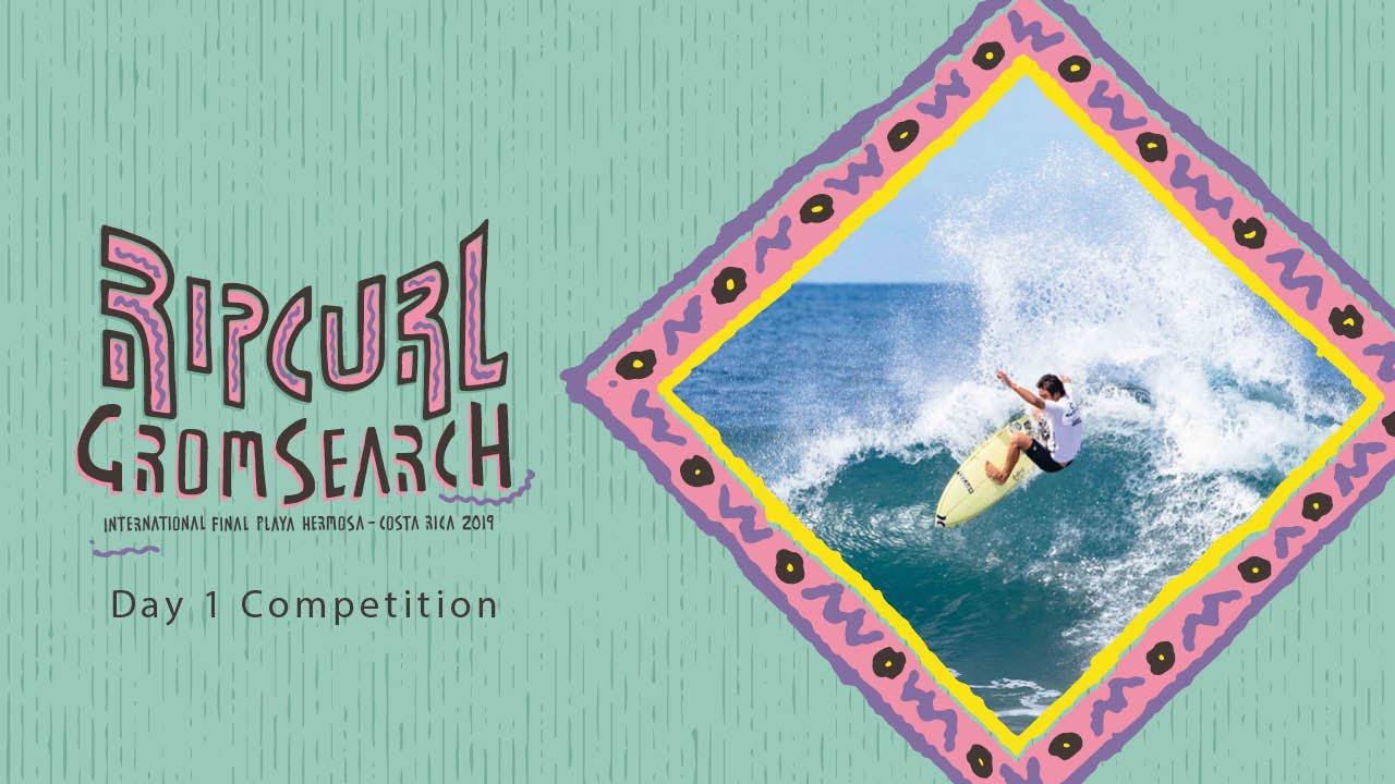Day 1: Rip Curl GromSearch International Final Playa Hermosa, Costa Rica