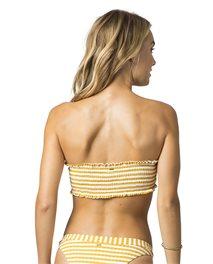 Top de bikini estilo bandeau Island Stripe