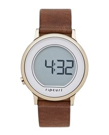 Daybreak Digital Rose Leather Watch