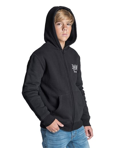 Search Icon Warm Hooded Zip Fleece