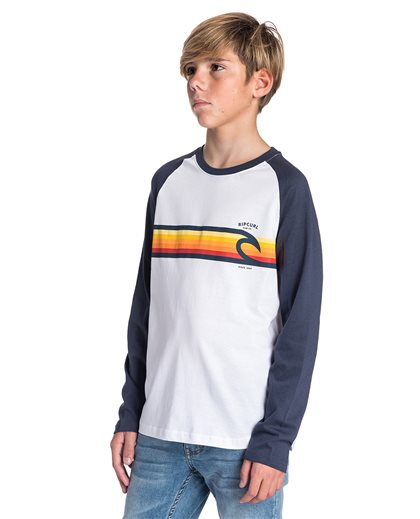 Rainbow Raglan Long Sleeve Tee