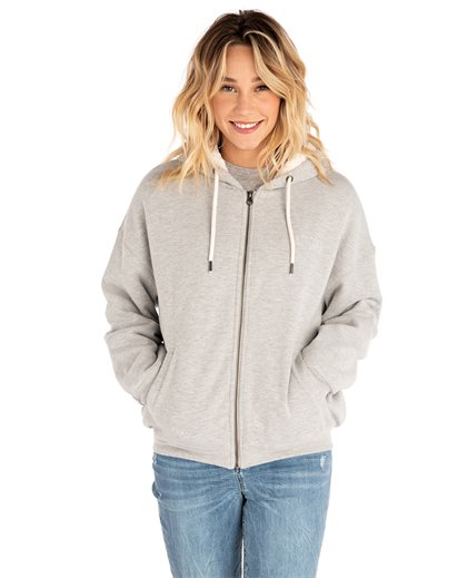 Gone Surfing Lined Zip Thru Fleece