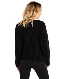 Woven V Neck Sweater