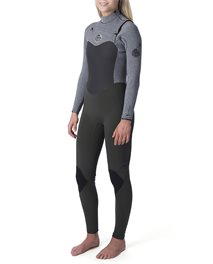 Women Flashbomb 3/2  Chest Zip Wetsuit