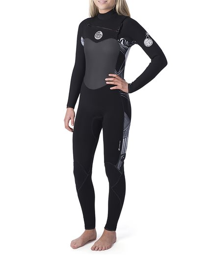 Women  Flashbomb 4/3  Chest Zip Wetsuit