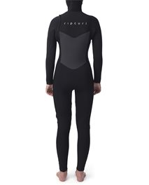 Women FlashBomb Hood 6/4 Chest Zip Wetsuit
