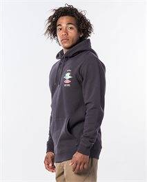 Search Icon Hood Fleece