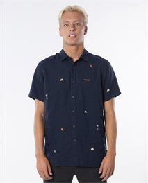 Swc Motif Linen Short Sleeve Shirt