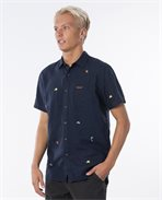 Swc Motif Linen Short Sleeve Shirt